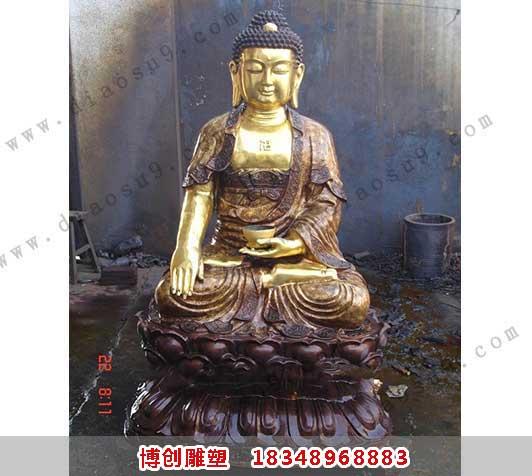 铜雕释加像