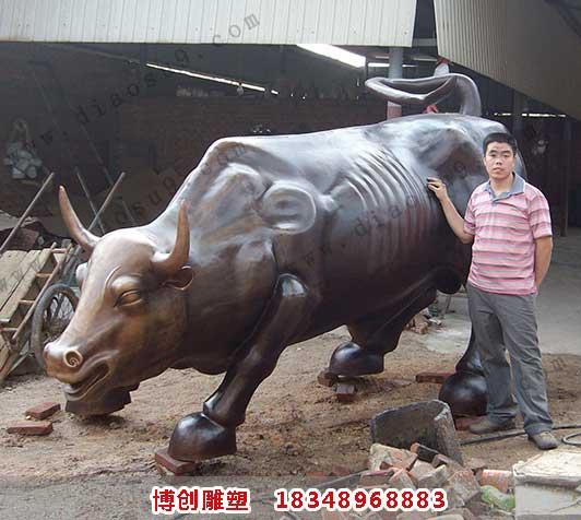 大型华尔街铜牛铸造