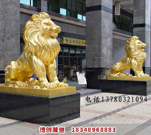 铜雕汇丰狮