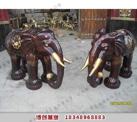 铜大象雕塑