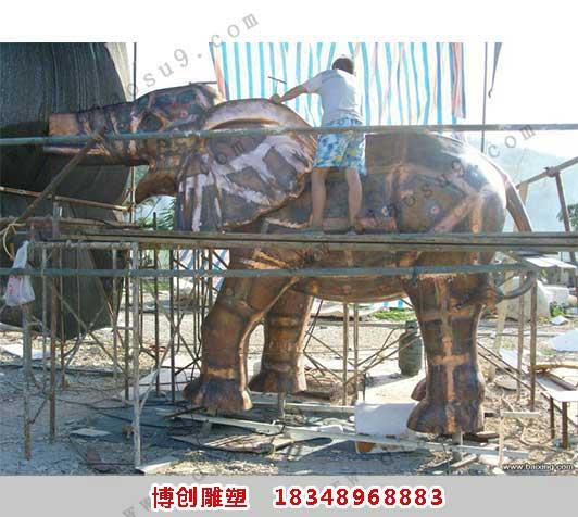铜大象铸造