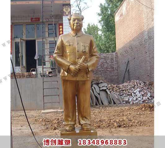 毛主席铜像铸造