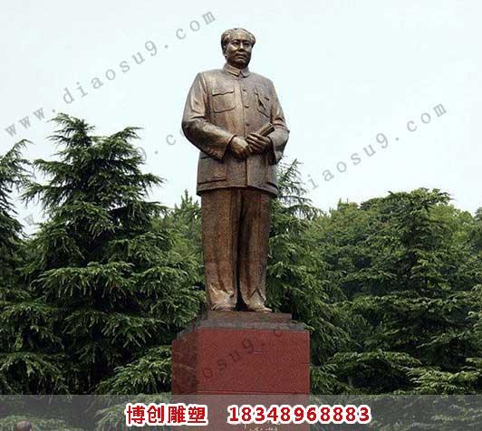 大型毛主席铜雕
