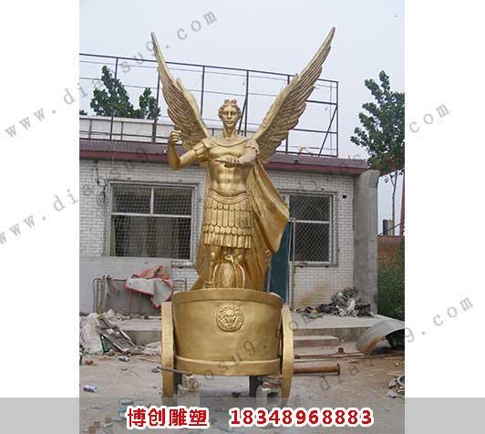 阿波罗战车铜雕