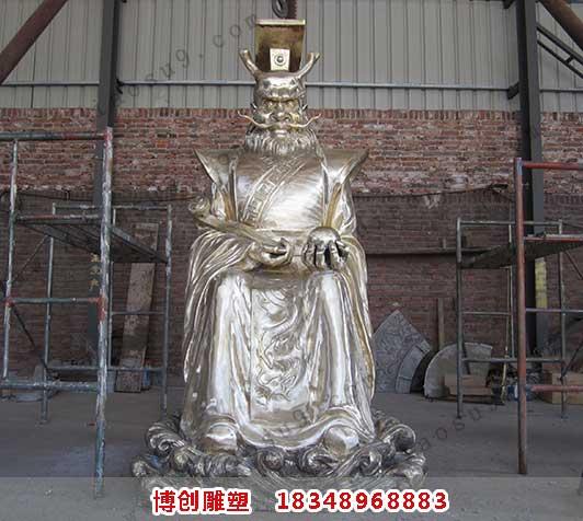 铸造龙王雕像