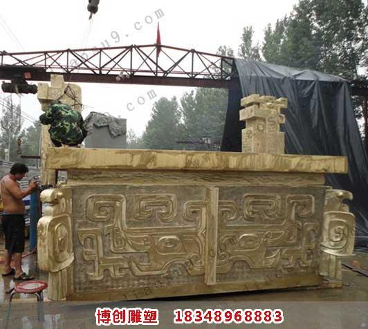 大型铜雕安装