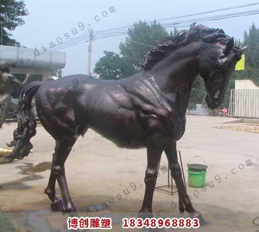 枣红马2.5米上色