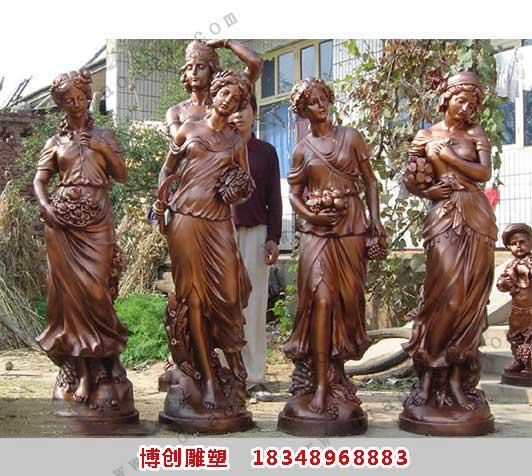 西方女性雕塑