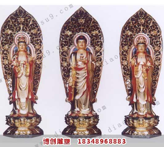 大型西方三圣雕塑