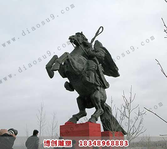 成吉思汗铸铜雕像