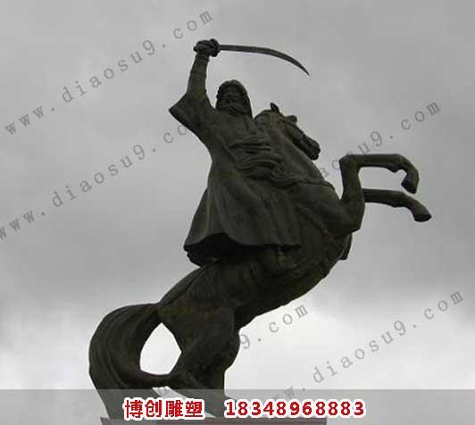 成吉思汗铜雕工艺品