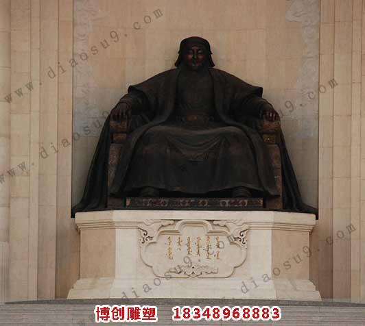 成吉思汗铜雕
