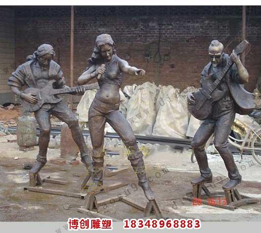 音乐组合雕塑