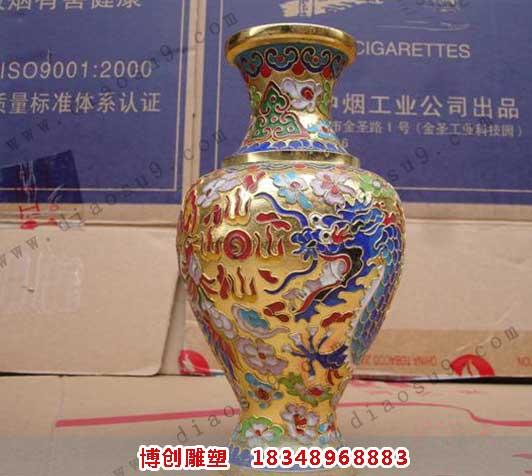 彩色铜花瓶