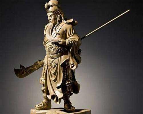 铸铜关公像