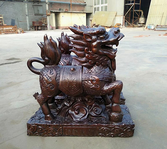 铜麒麟雕塑|火麒麟图片