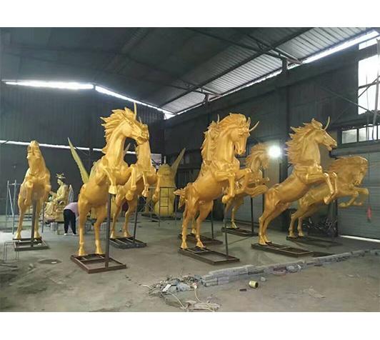 鎏金铜马(铜马制作完成图片)