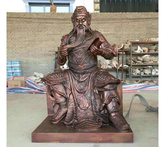 铜关公坐像