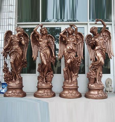 玻璃钢天使雕塑
