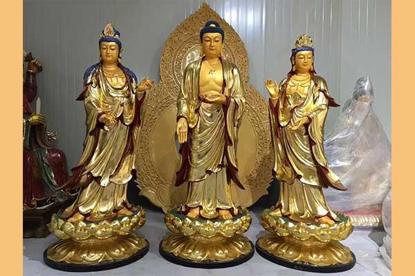 西方三圣雕塑