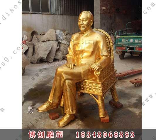 鎏金人物铜像