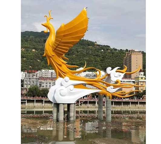 凤凰-园林雕塑