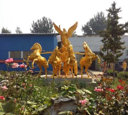 小区雕塑_太阳神铜雕