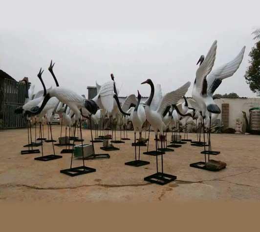 小区雕塑-仙鹤
