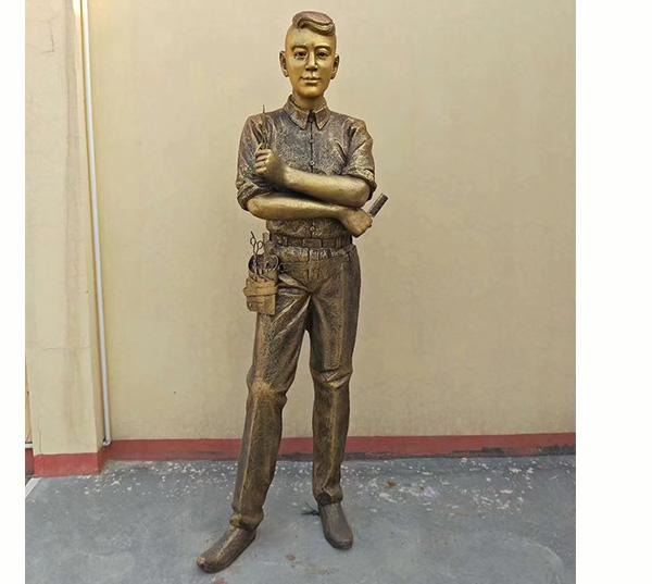 现代人物铜像