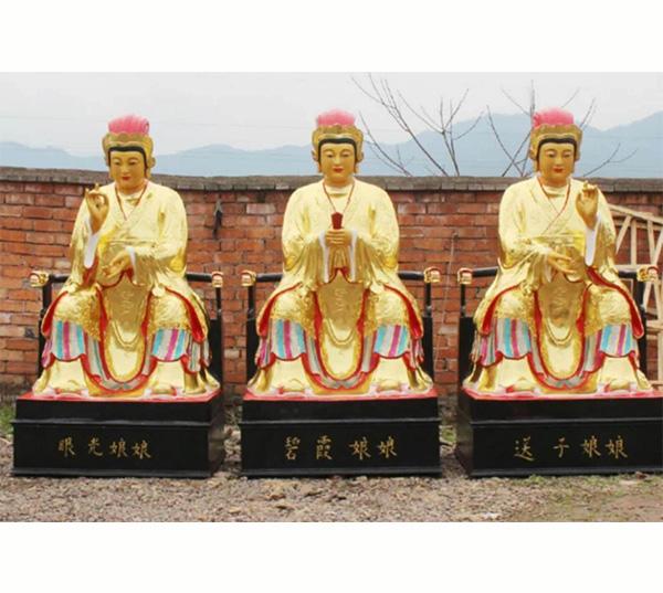 西方三圣铜佛像铸造