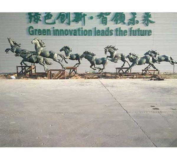 铜马-企业雕塑