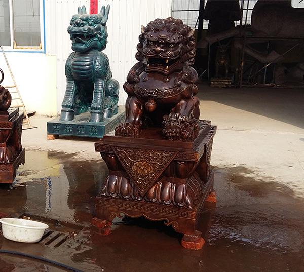 铜狮子雕塑制作