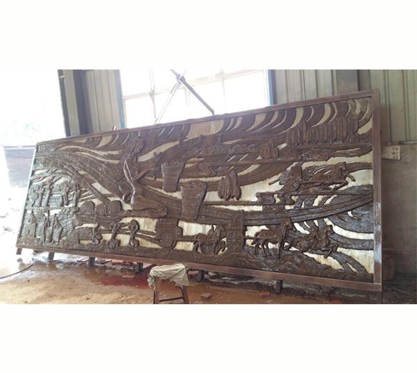 锻铜古代人物浮雕