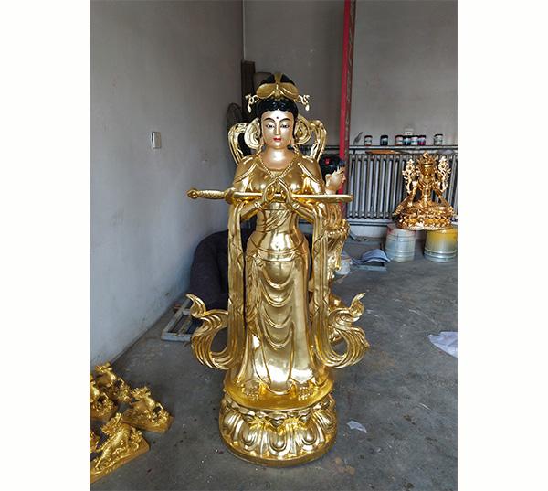 九天玄女铜佛像