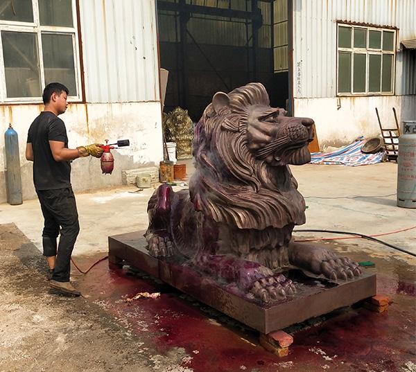汇丰铜狮子制作