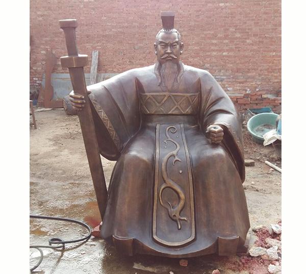 古代人物铜像