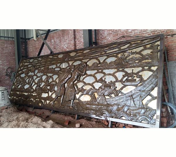 锻铜浮雕墙