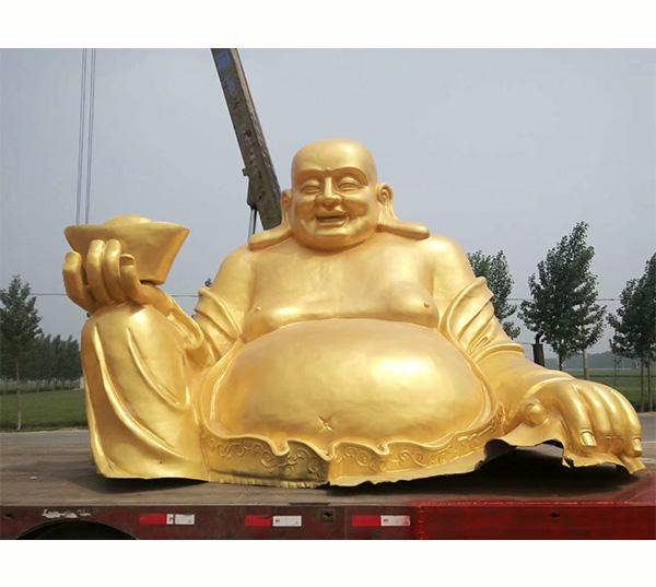 鎏金弥勒佛像