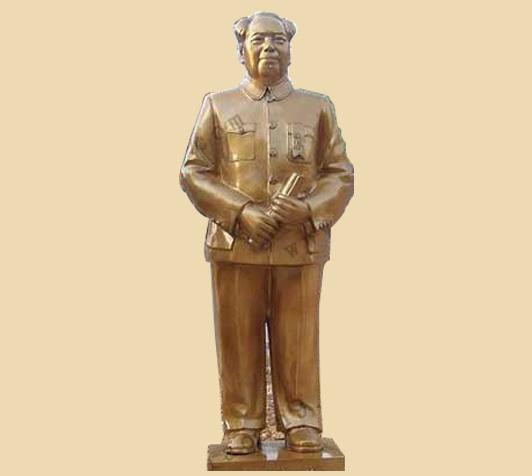 毛主席站像肖像铸造