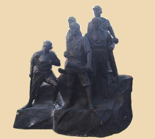 广场纪念雕塑狼牙山五壮士