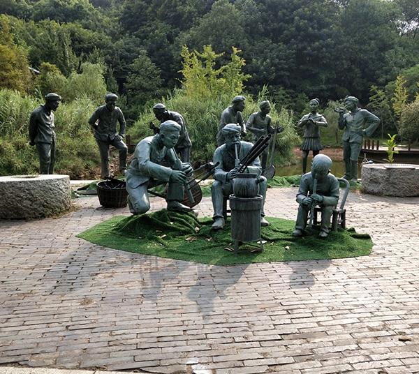 公园人物铜雕