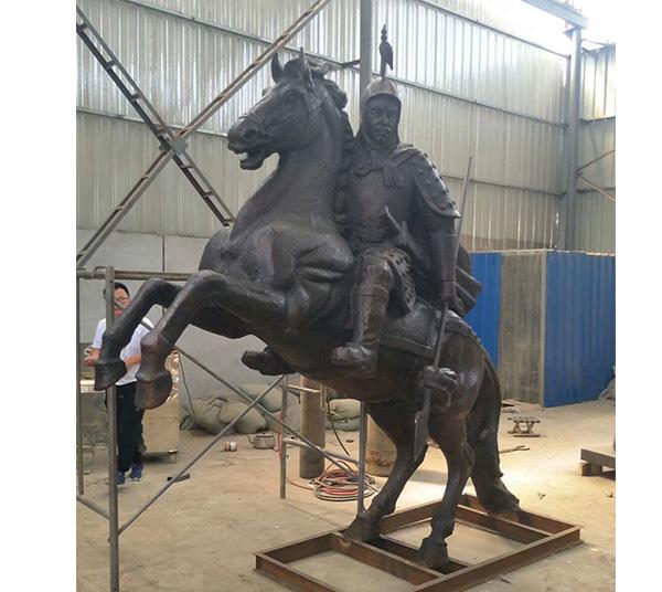 古代将军铜雕像
