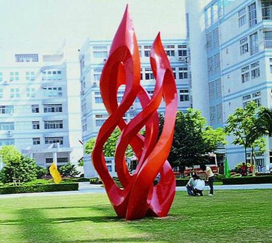 校园雕塑-火焰