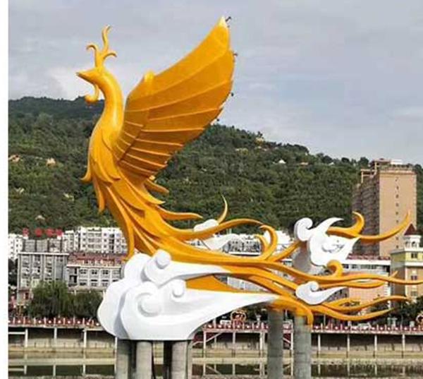 凤凰玻璃钢雕塑