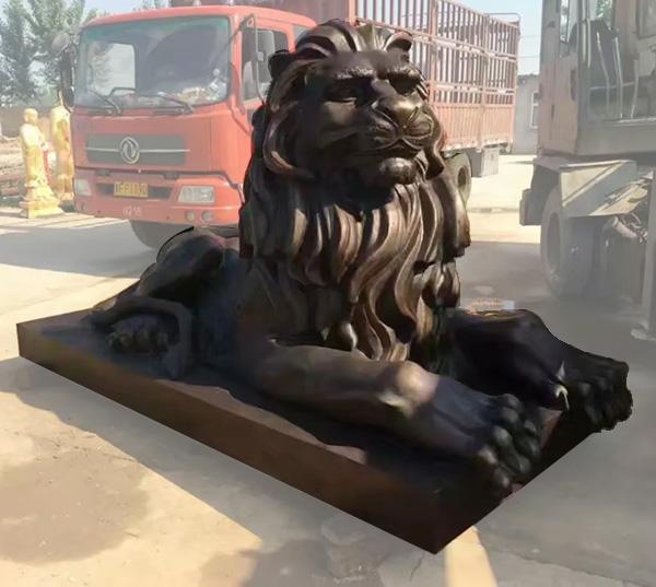 铜雕汇丰狮子