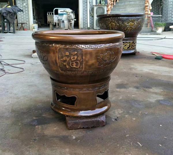 铸铜雕塑-铜缸