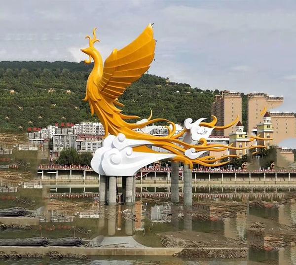 园林雕塑-凤凰