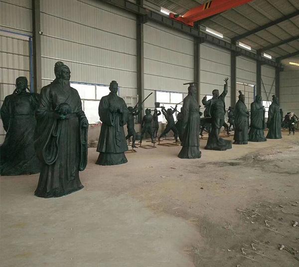 铸铜古代人物雕塑