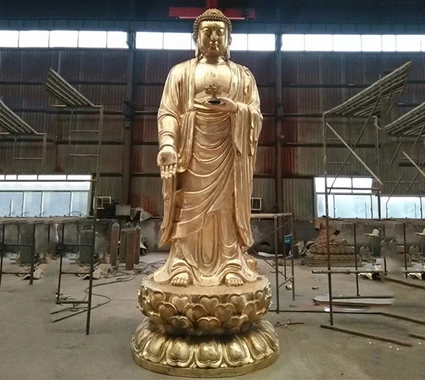 铸铜释迦牟尼佛像