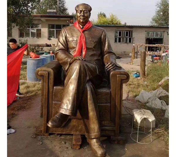毛主席铜坐像